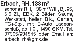 Erbach, RH, 138m²
