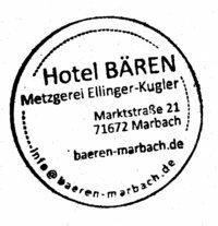 Hotel Bären Metzgerei Ellinger-Kugler