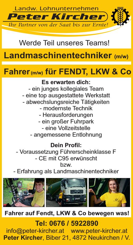 Werde Teil unseres Teams! Landmaschinentechniker (m/w) Fahrer (m/w) für Fendt, LKW & Co