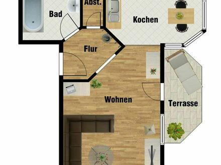 +++1-Raum-Wohnung im Erdgeschoss mit kleinem Balkon+++