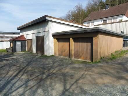 Arbeits-/Lagerhalle und Garagenanlage in Siegen-Bürbach