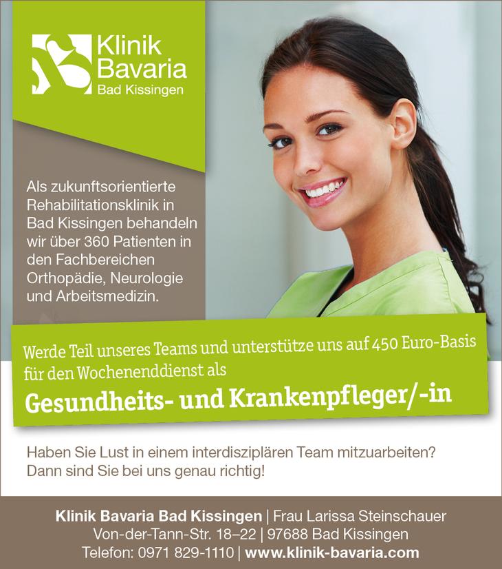 Werde Teil unseres Teams und unterstütze uns auf 450 Euro Basis für den Wochenenddienst als Gesundheits- und Krankenpfleger/-in