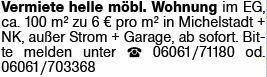 Mietwohnung in Michelstadt (64720)
