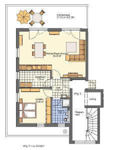 Nr. 5 - Penthouse-Lifestyle-Wohnung - Stadtnah - Alte Sandtrift - KFW 55 Standard