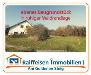Ebenes Baugrundstück in ruhiger Waldrandlage - zwischen Waldkirchen und Neureichenau