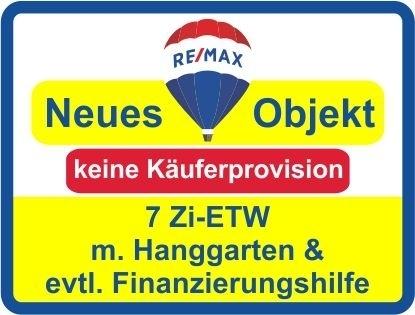"""Kaufen Sie ab € 345,-mtl.*/ 7 Zi.-ETW unter einem """"eigenem"""" Dach! Hanggarten! keine Käuferprovision!"""