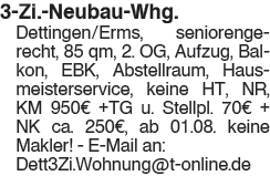 3 Zi. Neubau Whg.