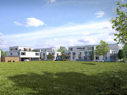In grüner Umgebung! 2-Zimmer-Neubauwohnung mit West-Terrasse und Ankleidezimmer