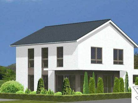Neubau Einfamilienhaus mit überdachter Gartenterrasse