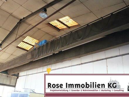 ROSE IMMOBILIEN KG: Kaltlager- / Produktionhalle in Rinteln ca. 300m² mit 8t Kranbahn!