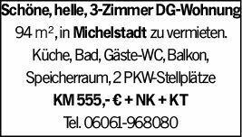 3-Zimmer Mietwohnung in Michelstadt (64720)