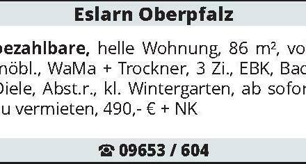Eslarn Oberpfalz bezahlbare, helle Wohnung