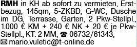 Gemütliches Reihenmittelhaus in Bad Kreuznach zu vermieten