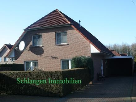 Objekt Nr. 21/005 Einfamilienhaus mit Carport und Nebengebäude im Feriengebiet Saterland OT Ramsloh