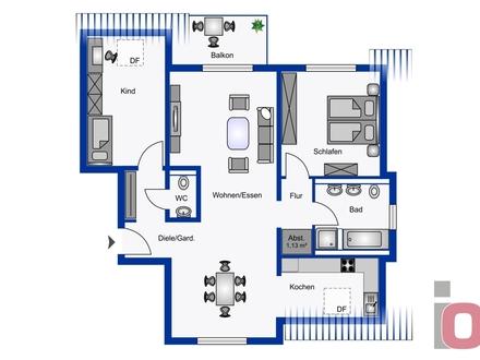 Für Wohngenießer - Lichtdurchflutete 3-ZKB Neubau-Dachgeschosswohnung mit Balkon