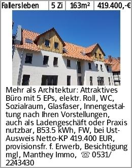 Fallersleben 5 Zi 163m² 419.400,-€ Mehr als Architektur: Attraktives Büro...