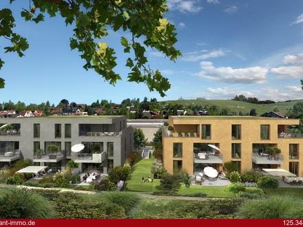FLAIR-Wohnen - Neubau-Wohnung mit einem Balkon im 1. OG, Gäste-WC, TG-Stellplatz möglich