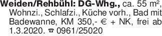 Weiden/Rehbühl: DG-Whg., ca. 5...