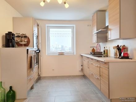 Möblierte ca. 75 m² Wohnung mit Loggia, Einbauküche und Kellerabteil
