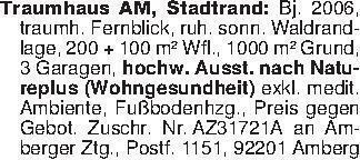 Traumhaus AM, Stadtrand: Bj. 2...