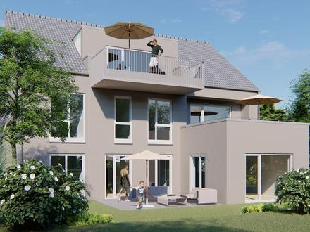 Erdgeschosswohnung mit gr. Garten in einem Drei-Familien-Haus mit großzügigen Grundrissen.