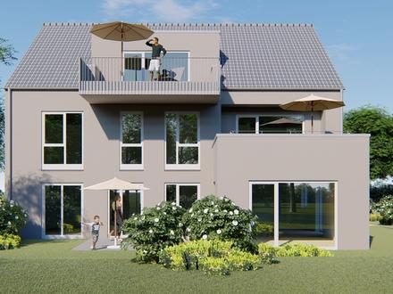 Dachgeschosswohnung in einem Drei-Familien-Haus mit großzügigen Grundrissen.