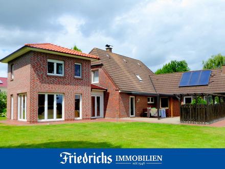 Gepfl. Wohnhaus mit Anbau, weiterem Wohnanbau u. Carportanlage in Edewecht, ruhige und zentrale Lage