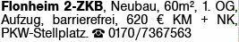 2-Zimmer Mietwohnung in Flonheim (55237)