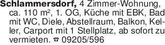 Schlammersdorf, 4 Zimmer-Wohnu...