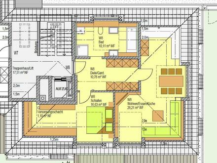 Schöne, geräumige 2-Zimmer DG-Wohnung in 1A-Lage