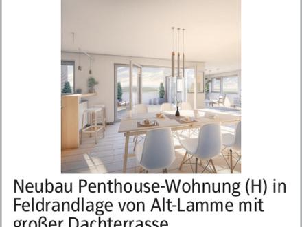 Neubau Penthouse-Wohnung 165 qm in Feldrandlage von Alt-Lamme mit großer Dachterrasse