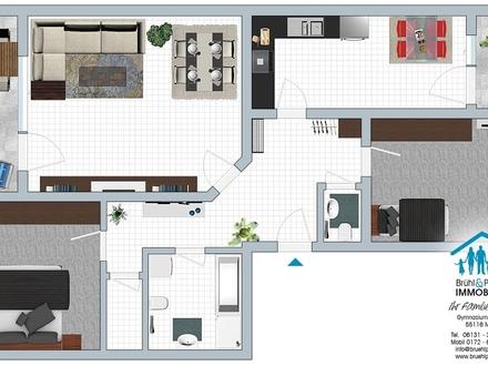 Tolle Erdgeschoss-Wohnung mit Südterrasse - 3,5 Zi, 84qm, Gäste-WC