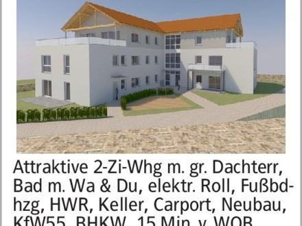 Attraktive 2-Zi-Whg m. gr. Dachterr, Bad m. Wa & Du, elektr. Roll, Fußbdhzg,...
