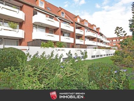 RESERVIERT / Findorff / Kapitalanlage: Gepflegte 2-Zimmer-Wohnung mit großer Südterrasse und PKW-Stellplatz