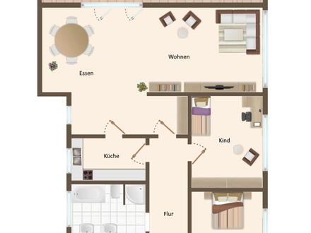 Großzügige 4 Zimmer Wohnung mit außergewöhnlicher Dachterrasse am Vechtaer Moorbach!