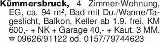 Kümmersbruck, 4 Zimmer-Wohnung...