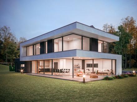 Elegante Villa mit extravagantem Satteldach