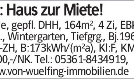 Helle, gepfl. DHH, 164m², 4 Zi, EBK, 2 Bäd., Wintergarten, Tiefgrg., Bj.1964,...
