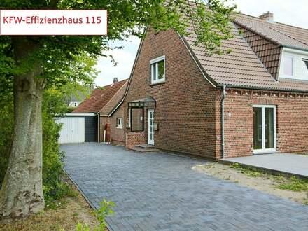 Sanierung zum KfW-Effizienzhaus 115: Komplett neu ausgebaute Haushälfte
