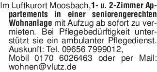 Im Luftkurort Moosbach,1- u. 2...