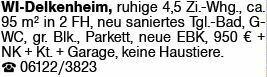4-Zimmer Mietwohnung in Wiesbaden-Delkenheim (65205)