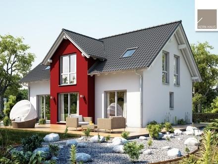Ein echter Hingucker: Großzügiges Familienheim mit 2 Quergiebeln!