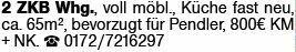 2-Zimmer Mietwohnung in Mainz (55116)