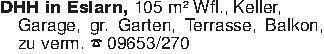 DHH in Eslarn, 105 m² Wfl., Ke...