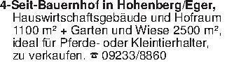 4-Seit-Bauernhof in Hohenberg/...