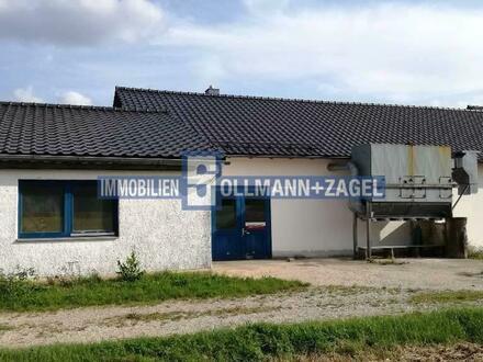 Gewerbehalle ca. 613 m² für Handwerk/Lager an der B8