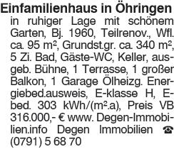 Einfamilienhaus in Öhringen