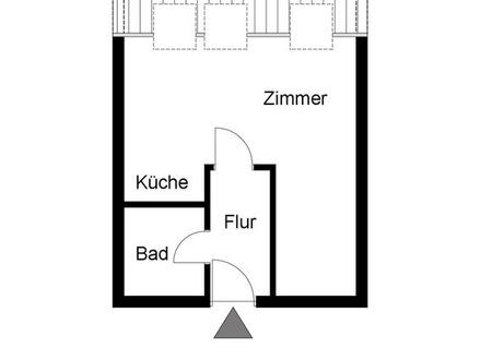 Kapitalanleger aufgepasst! Gemütliche 1 1/2 Zimmer-Dachgeschoss-Wohnung in Waiblingen!