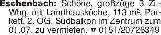 Eschenbach: Schöne, großzüge 3...