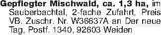 Gepflegter Mischwald, ca. 1,3...